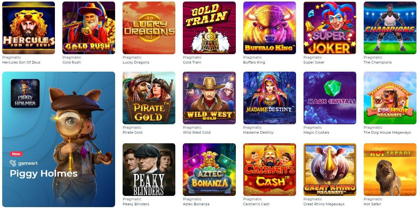 YOJU casino games